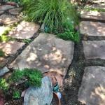 custom pathway with flagstone